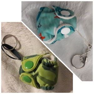 Bumgenius cloth diapers keychain lot Irwin Jules
